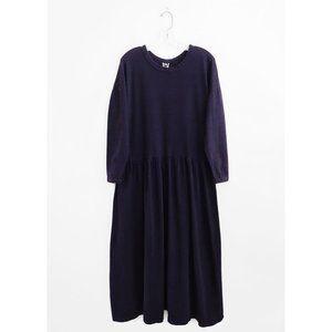 Vintage Minimalist Deep Violet Maxi Dress L XL
